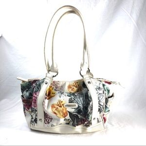 ST JOHN'S BAY | white floral vegan leather handbag